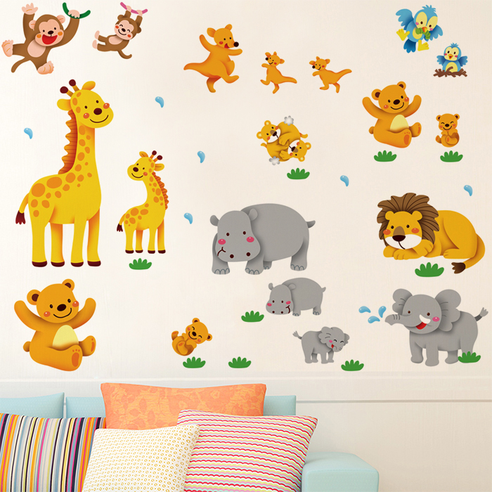 Cartoon Trees Curtains For Kids Boys Bedroom Blinds Linen: Aliexpress.com : Buy Elephant Lion Monkey Giraffe Cartoon