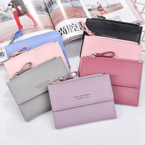 2017 new Pu Leather Women Short Wallets Ladies Small Wallet zipper Coin Women Purse Wallet Female Purses Money Bag vintage women short leather wallets stylish wallet coin card pocket holder wallet female purses money clip ladies purse 7n01 18