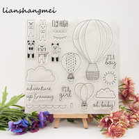 Cartoon Hot Air Balloon Transparent Clear Silicone Stamp Seal For DIY Scrapbooking Photo Album Decorative Clear