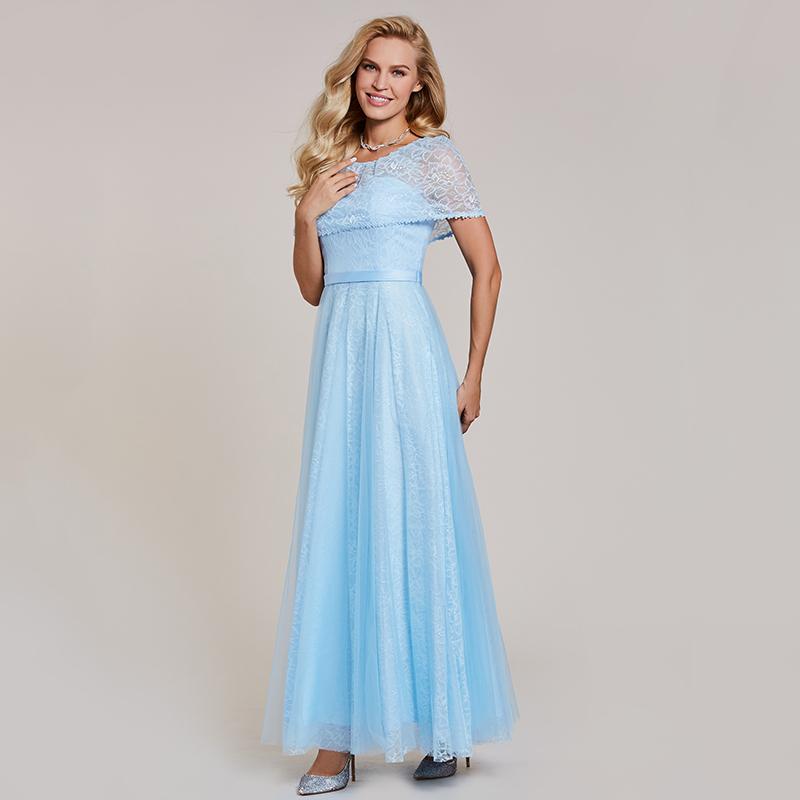 16f366cab5adf0 Tanpell scoop avondjurken hemelsblauw een lijn floor lengte rits up jurk  goedkope lace lange zwarte formele graduation avond jurk in Tanpell scoop  ...