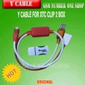 Y cable for xtc clip 2 box  free shipping