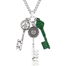Ready Player One Movie Three Keys Charm Pendant Necklace