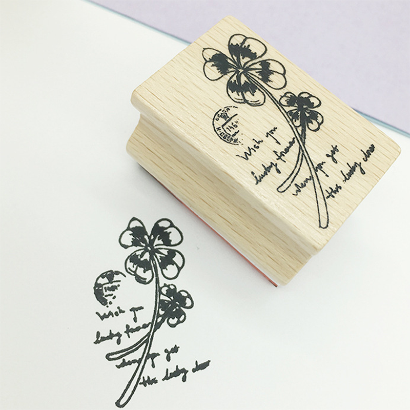 Vintage Plant Flower Wood Stamp DIY Craft Wooden Rubber Stamps For Scrapbooking Stationery Scrapbooking Standard Stamp