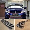 Сплав алюминиевый передний центр Гонки сетки бампер грили Заготовка решетка крышка для VW Polo 2011-2013