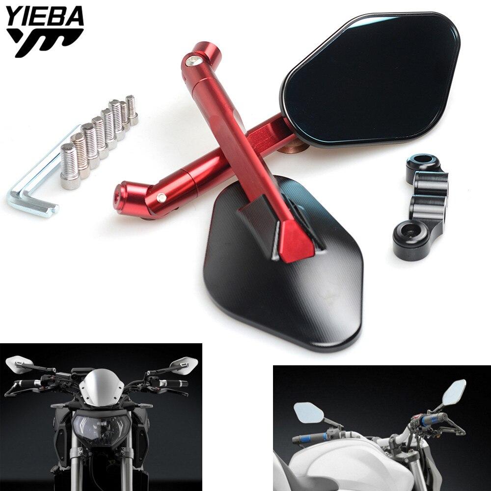 Universal Moto Rétroviseurs Vue Arrière Latérale Miroir POUR Honda CBR 600 F2 F3 F4 F4i CBR600RR CB1000R V7 Classique GS500F
