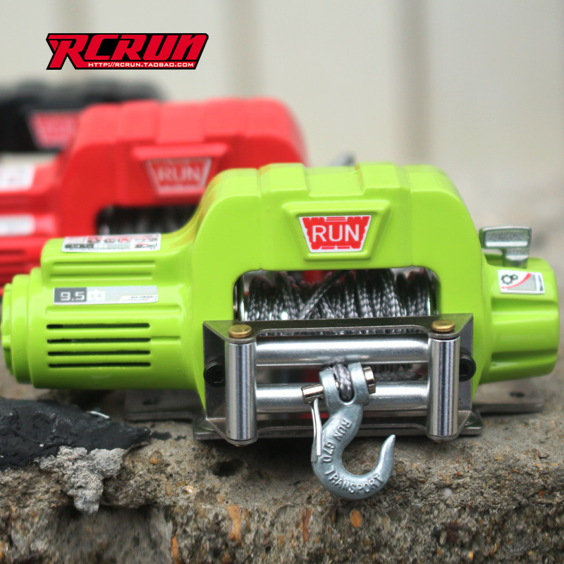 RCRUN 1:10 Simulation Model Climbing Car Metal Electric Winch 90046 D90 SC X10 TRX-4 For Climbing Toy Car