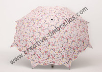 Lotus leaf umbrellas,100%sunscreen,UPF>50+,ladies'parasol,full flower printed,210T black silver coating,cherry parasol,two fold