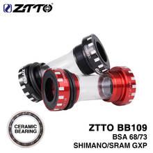 ZTTO BB109 BB68 BSA68 Bottom Bracket MTB Bike External Bearing Bottom Brackets for Shimano 24mm SRAM 22mm GXP Crankset
