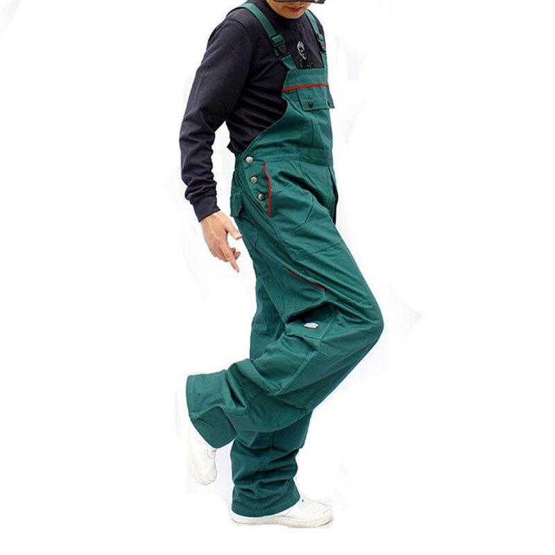 Bib overalls men work coveralls repairman strap jumpsuits pants sleeveless wear resistance working uniforms plus size
