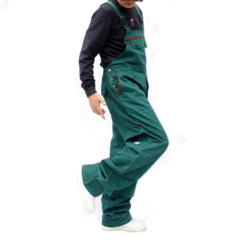 Bib overalls men work coveralls repairman strap jumpsuits pants sleeveless wear-resistance working uniforms plus size S-3XL