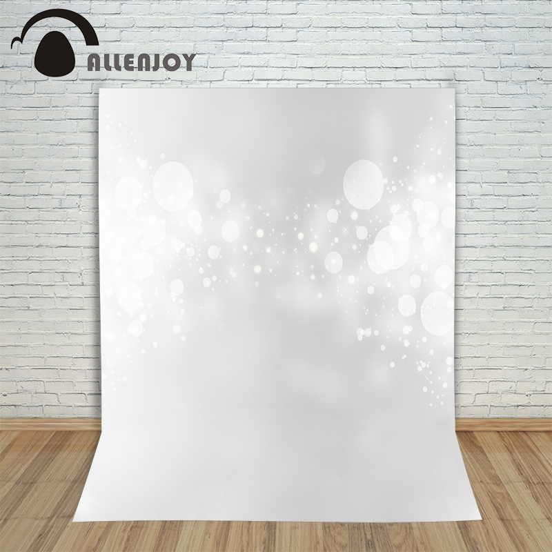 Allenjoy photographic camera background White backdrop blur bokeh spots horizonal photocall for photo shoots vinyl backdrops