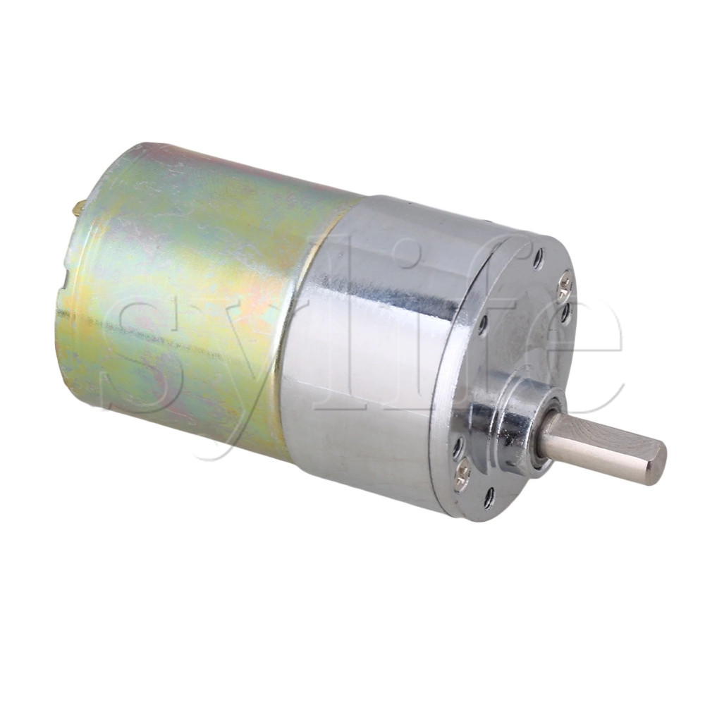 New Reversible 12V DC 140 RPM Gear-Box Speed control Electric Motor 37mm Dia