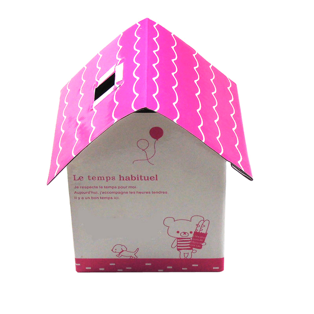 Cute Mini House Shape Paper Chipboard Folding Tissue Box Cover Decorative  Paper Roll Storage Case Holder