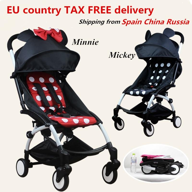 Oryginalny Yoyanoble wózek dla dziecka wózek samochodowy składany wózek Bebek Arabasi Buggy lekki wózek spacerowy