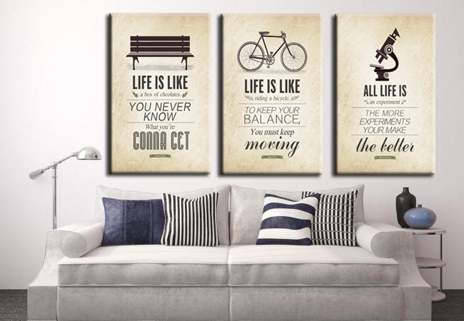 3 Pcs Modern Minimalist Bedroom Wall Art Black White Motivational Typography Quotes Large Poster