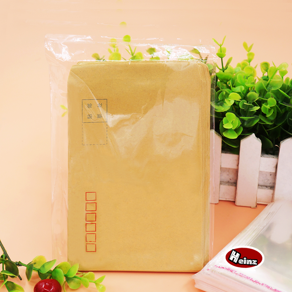 6595 4 Cm Transparan Plastik Tas Penyegelan Aksesoris Paket Amplas Mika Fiber Optic Majalah Pakaian Kemasan Diri Perekat Spot 100