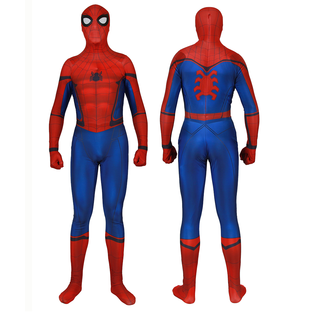 2019 Movie Spider Man Far From Home Cosplay Costumes Blue Spider-man Homecoming Superhero Zentai Suit Bodysuit Jumpsuits