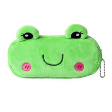 New Qualified Cute Cartoon Green Frog Pencil Case Plush Large Pen Storage Bag For Kids Home Office Supplies D40au7
