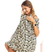 Maternity Cloth Nursing Cover Letter Floral Baby Breastfeeding Cloth Breathable Cotton Newborn Infant Stroller Sun Shelter Cover