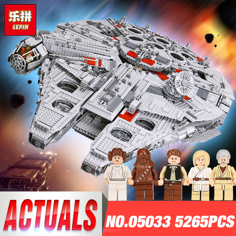 LEPIN 05033 Star Toys Wars Compatible 10179 Ultimate Collector's Millennium Falcon Model Building Blocks Bricks Set lepin star wars millennium falcon special forces fighter starwars building blocks sets bricks classic model compatible legoings