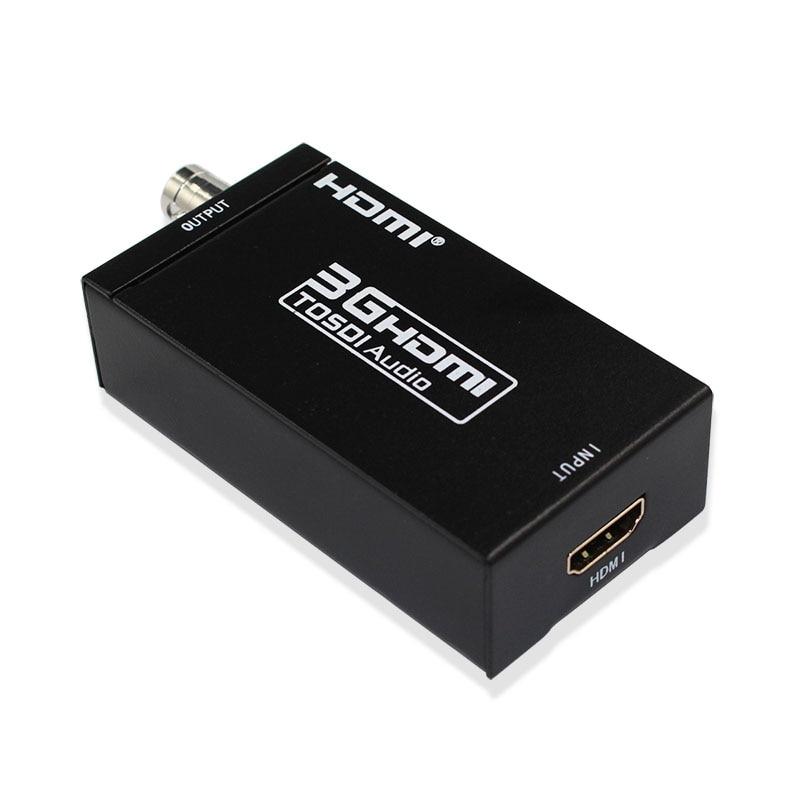 Mini HDMI AU Convertisseur SDI 3g Full HD 1080 p HDMI VERS SDI Adaptateur Convertisseur Vidéo avec Adaptateur secteur pour Conduite Moniteurs HDMI