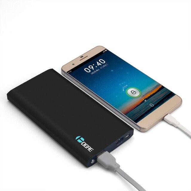 Ультра Тонкий Мобильный Банк питания 12000 мАч Dual USB Powerbank Литий-Полимерный Внешняя Батарея Портативное Зарядное Устройство Телефона