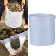Gallon Round Black Non-woven Fabrics Pots Plant Pouch Root Container Grow Bag Aeration Container Nursery Pots 1030(China)