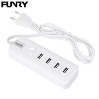 Funry CHG EU001 EU Plug USB Mini Chargers 5V 4 USB Interface Input 110V 250V Wall