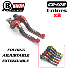 Free shipping Motorcycle Adjustable Long Brake Clutch Levers For Honda CB400SF CB919 CB600 CBR 600 F2 F3 F4 F4i CB400 CB 400 919