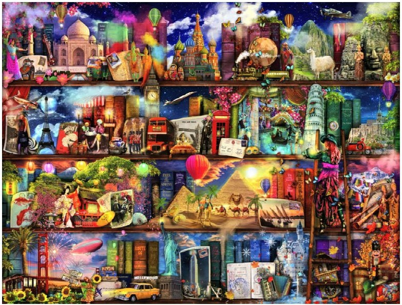 Needlework DIY DMC 14CT unprinted Cross stitch kits For Embroidery Fabulous Library Counted Cross Stitching embroider