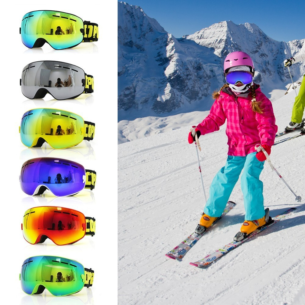 25751e6b1f7 COPOZZ Kids Ski Goggles Small Size UV400 Anti-fog Children Double Layers  Mask Glasses Skiing