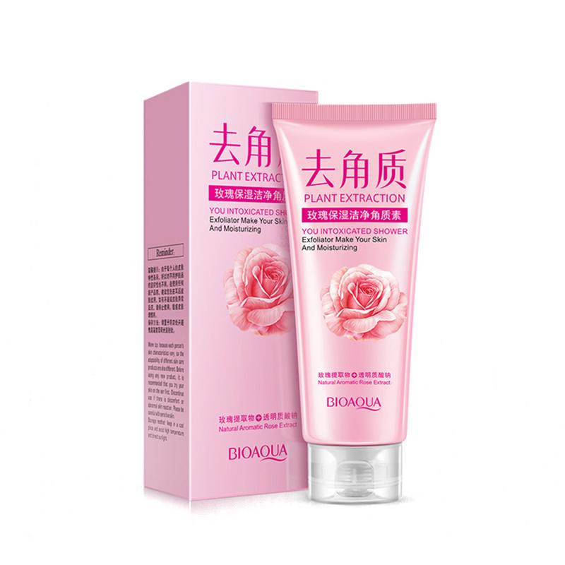 BIOAQUA Rose Moisturizing Deep Cleansing Rejuvenating Scrub Cleaner Exfoliator Skin Care Cream