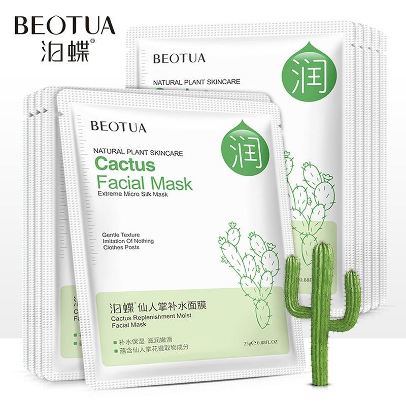 BEOTUA Mascara Facial Para Acne Face Mask Chamomile Cactus