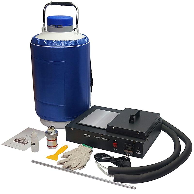lcd freezing separator mache FS06 2  1 pack built  pump with 10L liquid nitrogen tank 220V 300W for phone  repair tool|Power Tool Sets| |  - title=