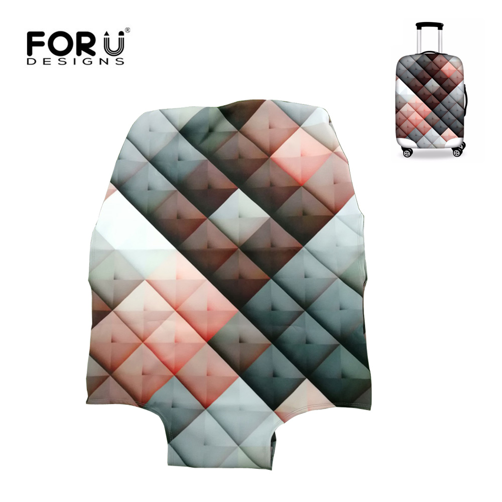 FORUDESIGNS Thickened Luggages Protective Cover For 18-30 Inch Trolley Cases Waterproof Elastic Suitcases Bag Dust Rain Covers