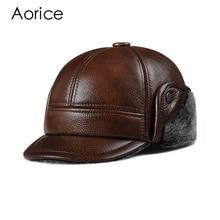 цена на HL104  genuine leather men baseball cap hat CBD high quality  men's real leather adult solid adjustable hats caps