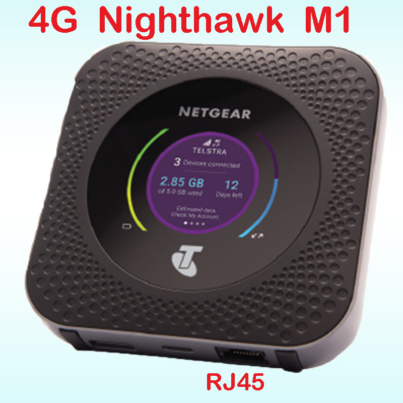 Used Unlocked Netgear Nighthawk M1 4GX Gigabit Mobile 1Gbps CAT16 4g WiFi Hotspot Rj45 With Usb Type-c Ts9 4g Router Mifi Router