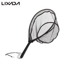 Fly Fishing Brail Landing Net ABS handle and aluminum alloy frame  Casting Network Rubber Mesh Wooden  Hand Net Fishing Tackle