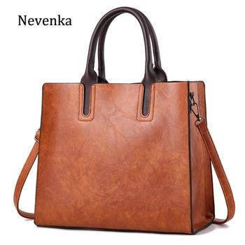Nevenka Leather Handbag Women Casual Totes Female Leather Shoulder Bags Girls Crossbody Bag Ladies Shopping Bag for Women 2018 grande bolsas femininas de couro
