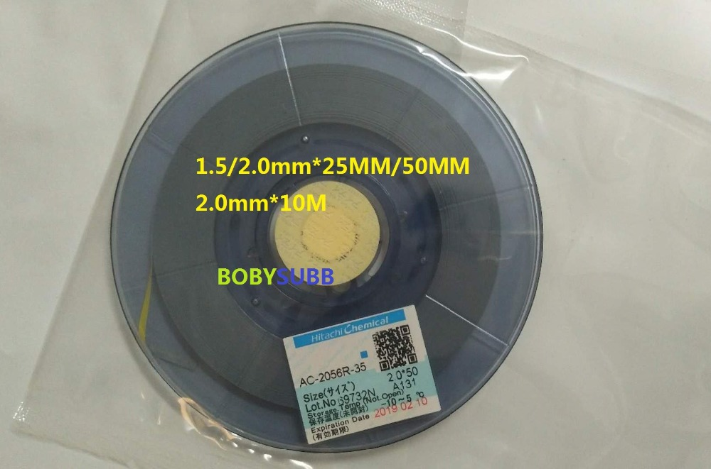 New Date Original ACF AC-2056R-35 PCB Repair TAPE 1.5/2.0MM*10M/25M/50M original acf ac 11800y 16 1 0mmx100m tape