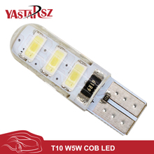1pcs New Arrival T10 192 W5W 6 SMD 5630 5730 LED Silica gel Waterproof Wedge Light Car Parking light Auto Clearance Lights 12V