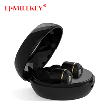Wireless Earphones Dynamic Dual Drivers Bluetooth 4 1 TWS Earbuds Stereo Music Headsets Hand Free with