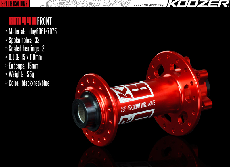 AM Koozer BM440 4 Bearings Boost 15x110 12x148mm for extreme off-road for Sram XD 11S