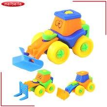 3 pçs/lote Veículos de Construção de Brinquedo Do Carro Da Fricção Carro Dos Desenhos Animados 2-5 Engenharia Escavadeira Carro Criança Carro Brinquedos Educativos
