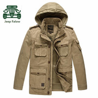 AFS JEEP Falow 4xl 5xl 100 Pure Cotton Man S Cargo Jacket Loose Outdoor Man S