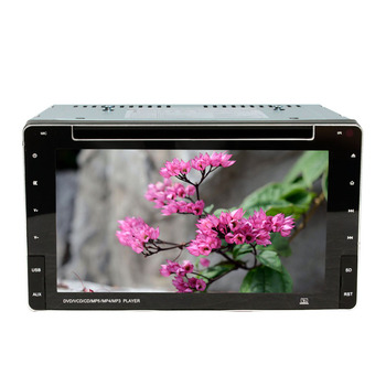 6.5 inch two din Universal touch screen Panel DVD Player With Screen VCD/MP3/SD/USB/FM/BT Transmitter SH6581DVD