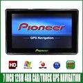 7 polegada HD tela de Navegação GPS Do Veículo 800 M/FM/4 GB/128 MB novo Mapa Para rússia/Bielorrússia/Europa/EUA car/truck MTK CE6.0 Navegador
