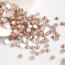 YANRUO Light Peach Color Strass Non Hotfix Rhinestone Crystal Glue on Nails Champagne Crystals Craft DIY Beads Dress