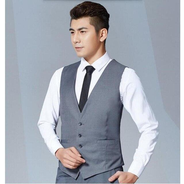 New Men Suit Vest Fashion Casual Custom Fit Tuxedo Wedding Formal ...