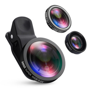 Fisheye Lens Wide Angle Macro Kits Mobile Phone Shooting set3 in 1Fish Eye Lenses with Clip For iPhone Samsung etc mobile phones
